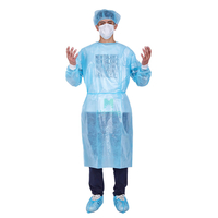 Insulation Non Woven PP Sanitary Level 2 Examination Impervious Procedure Patient Moisture Proof Protective PE Coated Long Sleeve Isolation Gown Disposable