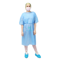 Non Woven Sanitary Laminated Procedure Disposable Isolation Lab Gown