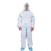 Disposable Protective Coverall with Taped Seams for Chemical Food Industry