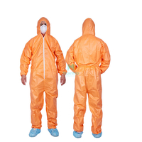 Disposable Spraying Breathable Work Wear Type 5 6 Sterile Waterproof Protective Coverall Suit