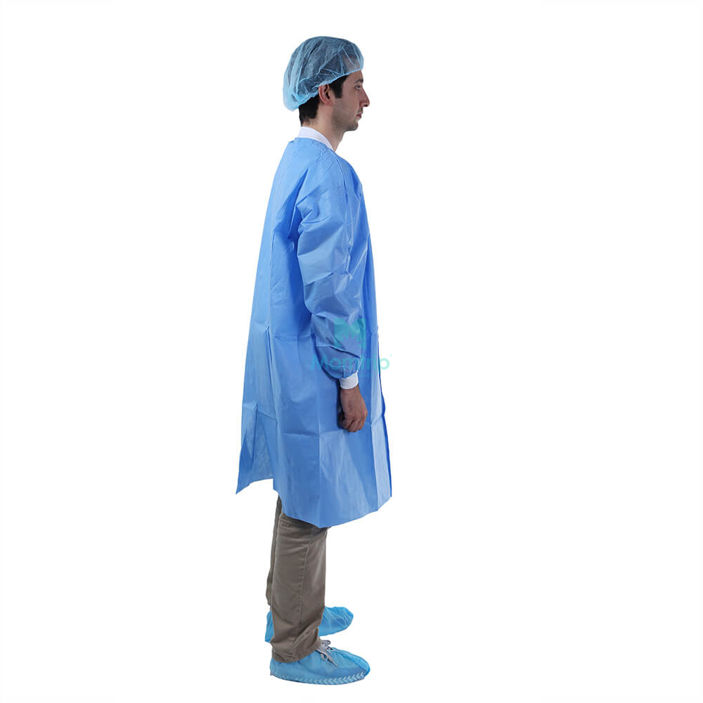Wholesale Painting Anti Static Impervious Disposable Long Sleeve Lab Coat