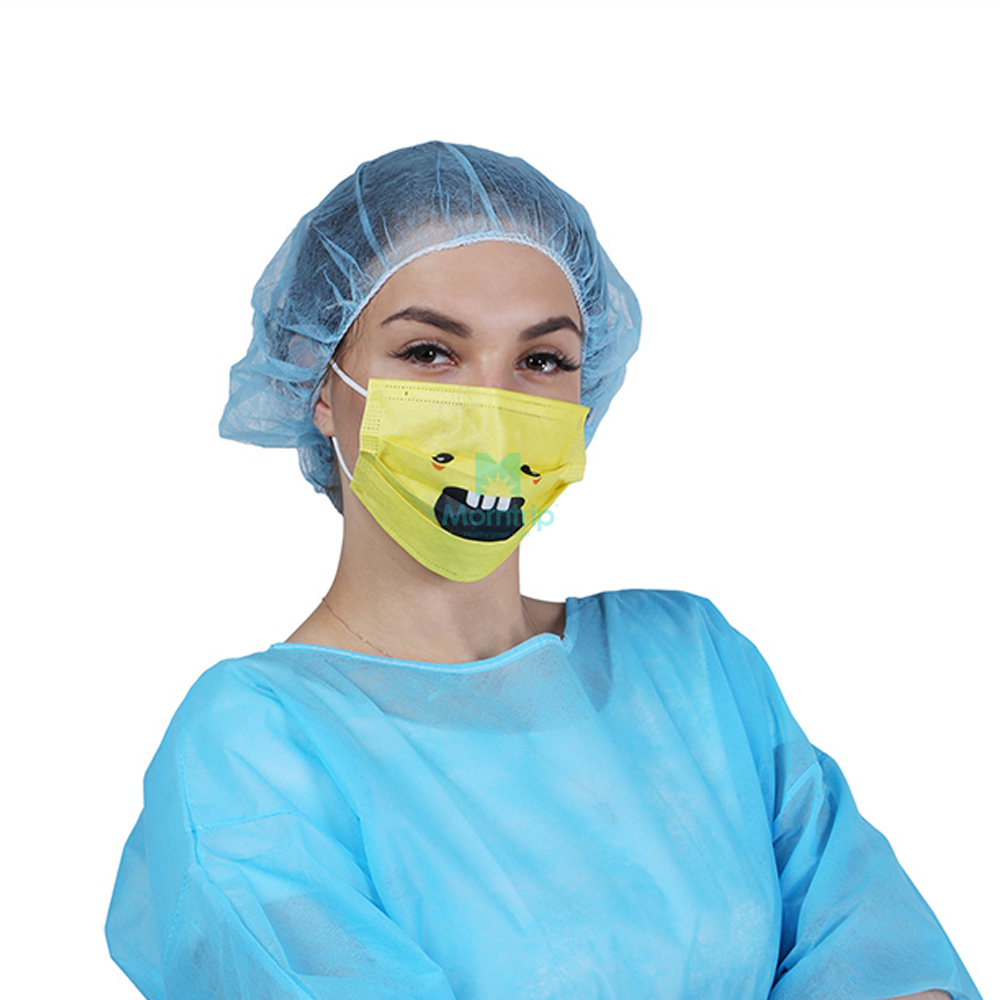 Yellow Non Woven Funny High Quality Disposable Face Mask