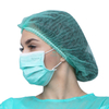 Green Spa Non Woven Protective Disposable Mob Cap For Beauty Use