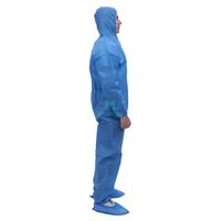 SMS Non Woven Hooded Waterproof Protective Disposable Coverall