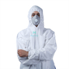 Microporous Combined with SMS Breathable Type 5 6 Hooded Dustproof Splashproof Ce Certificated Coverall Clothing