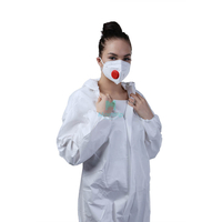 Breathable Comfortable Vertical Fold Respirator with valve