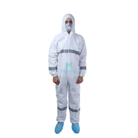 Microporous Protective Coverall With Reflective Tape