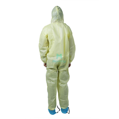 Fully Body Non Woven Asbestos Inspection Lightweight Disposable Protective Clothing