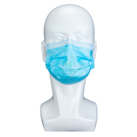 3 Ply Non Woven Sanitary High Quality Hypoallergenic Adjustable Protective Breathing Disposable Medical Face Mask
