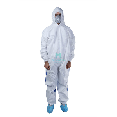 Microporous Combined with SMS Breathable Type 5 6 Hooded Ce Certificated Work Wear Hazmat Suit Clothing