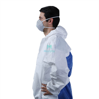 Breathable Type 5 6 Hooded Splashproof Ce Certificated Work Wear Disposable Safety Clothing
