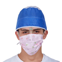 3 Ply Non Woven Customized Hypoallergenic Anti Bacterial Protective Daily Use Disposable Earloop Face Mask