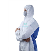Breathable Type 5 6 Hooded Dustproof Splashproof Ce Certificated Work Wear Isolation Gown Patient Clothing