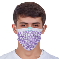 3 Ply Customized Air Pollution Non Woven Breathable Protective Medical Disposable Earloop Sanitary Mask