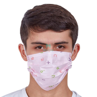 3 Ply Kids Funny Non Woven Earloop Disposable Protective Face Mask with Customized Design