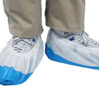 Chinese Suppliers Disposable Anti-Slip Automatic PP/SMS Disposable Shoe Cover with CPE Film