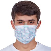 Morntrip Wholesale 3 Ply Non Woven Custom Printed Earloop Disposable Protective Face Mask