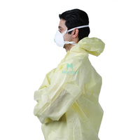 Non Woven Laminated Impervious Industrial Fully Body Disposable Coverall
