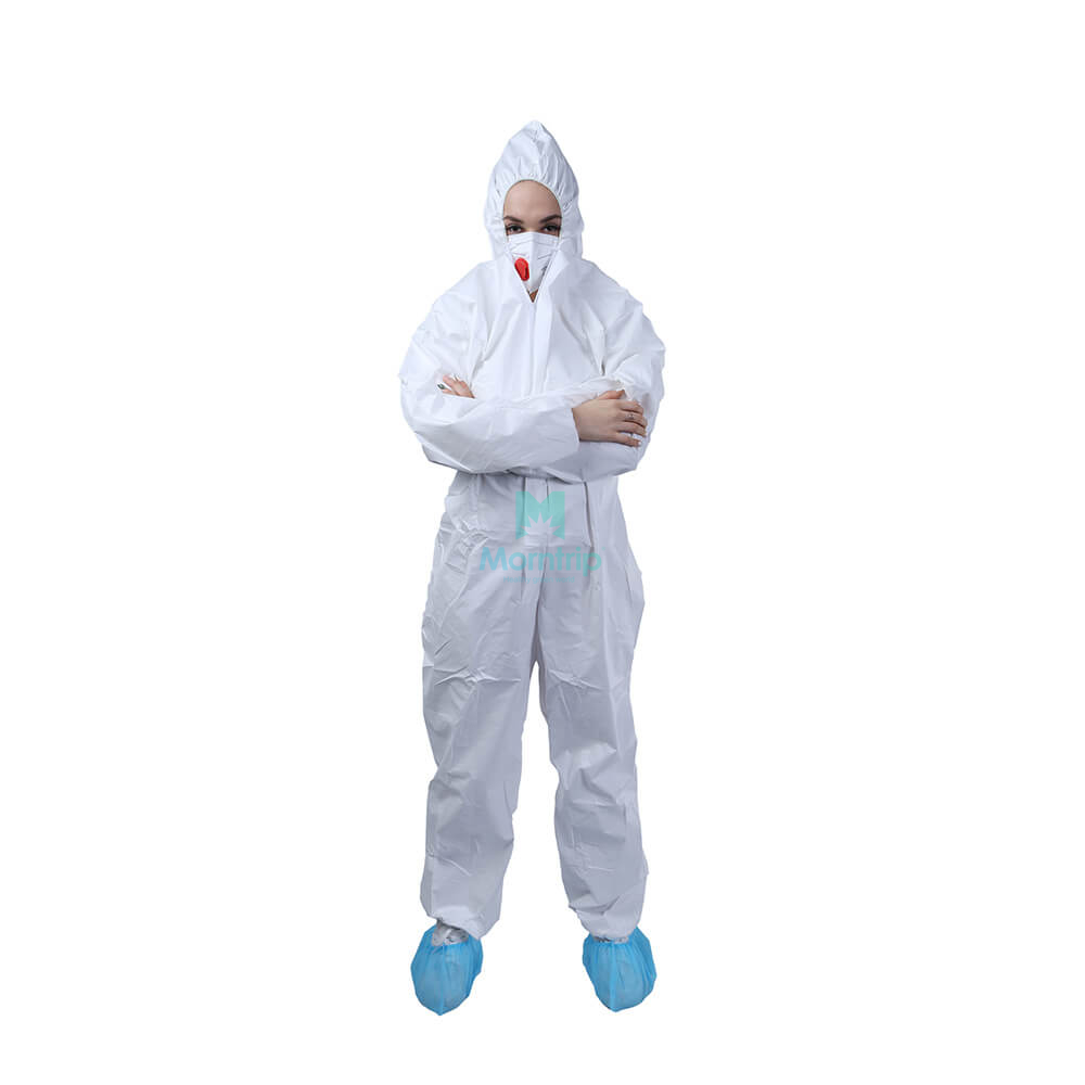Safety Work Wear Anti Static Dustproof Panting Spraying Full Body for Industry Food Isolation Disposable Protective Clothing
