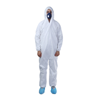 Industrial Protective Clothing White Disposable Microporous Coverall