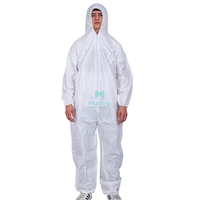 Anti Bacterial Overall Suit Industry Breathable Type 5 6 Disposable Anti Static Dustproof Isolation Disposable Clothing Suit