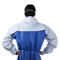 Breathable Type 5 6 Hooded Dustproof Splashproof Ce Certificated Chemical Resistant Clothing
