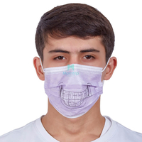 3 Ply Non Woven Dental Pattern Printed Disposable Earloop Face Mask