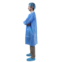 Morntrip Non Woven Lightweight Waterproof Disposable Long Sleeve Doctor Lab Coat